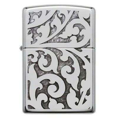 Zippo 28530 Filigree Windproof High Polish Chrome Classic Lighter