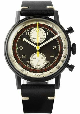 NEW Undone Watches.com Exclusive Urban Vintage Navi Black PVD |  FULL WARRANTY
