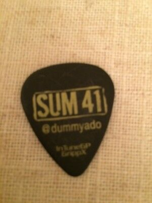 Sum 41 Tour Guitar Pick