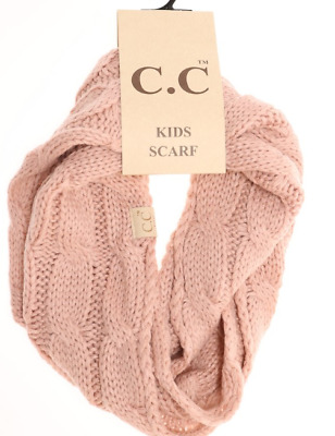 KIDS Solid Cable Knit CC Infinity Scarf CC Beanie