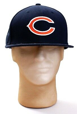 New Era 59Fifty NFL Chicago Bears Blue On Field Fitted Hat Cap Adult NWT b34e1a7fd077