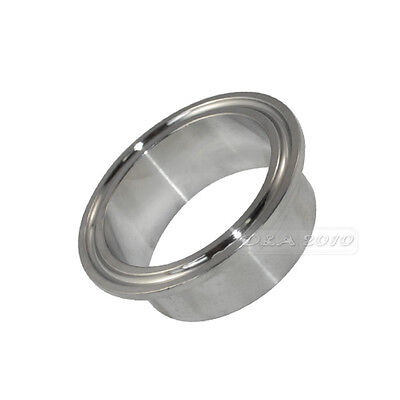 """For 2"""" inch Tri Clamp OD 45MM Sanitary Weld on Pipe w/64MM Ferrule Flange SS 304"""