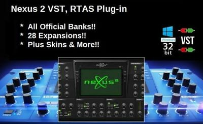 NEXUS 2 VST Plugin with Expansions & 64-bit Adapter Windows PC - E-DELIVERY!