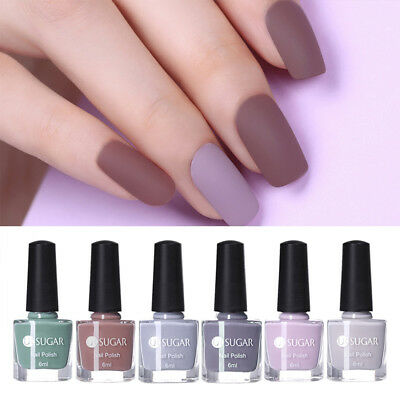 6X UR SUGAR Matte Dull Nail Art Polish Pure Tips  Nails Matt Varnish