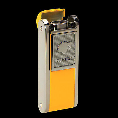 Cohiba Metal Yellow Classic Cigar Lighter 2 Torch Jet Flame W/Lateral Punch