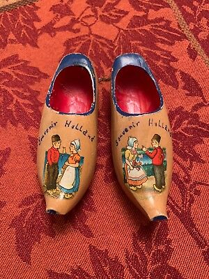 Amsterdam/Holland/Dutch/Netherlands Miniature Wooden Souvenir Decorative Clogs!!