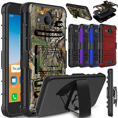 For Alcatel Tetra Phone Case Belt Clip Holdter Kickstand Rugged Hard Armor Cover