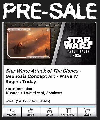 Presale-Geonosis Concept-Aotc-Wave 4-White-10 Card Set-Topps Star Wars Trader