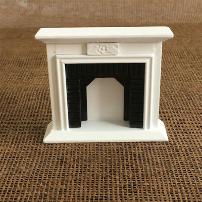 Vintage Fireplace For 1:12 Dollhouse Room Miniature Furniture Kids Xmas Gift