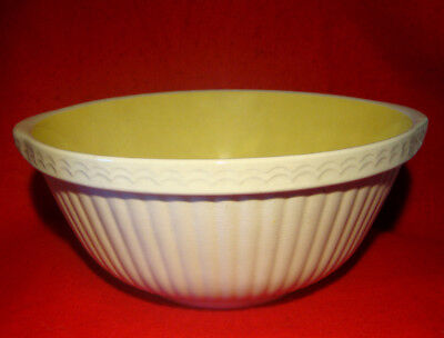 """VINTAGE TG GREEN'S EASIMIX GRIPSTAND MIXING BOWL 11 1/4"""" YELLOW INTERIOR as is"""