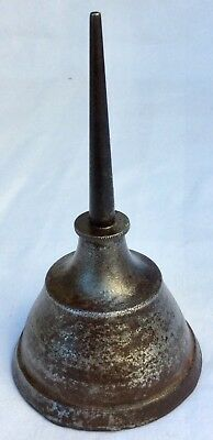 •CAST-IRON oil CAN•antque Ford Model A T brass era auto•HIT & MISS Steam ENGINE•
