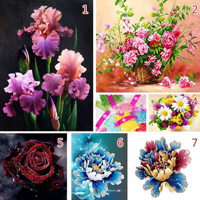 Animal Flower 5D Diamond DIY Painting Embroidery Cross Stitch Kit Home Decor New