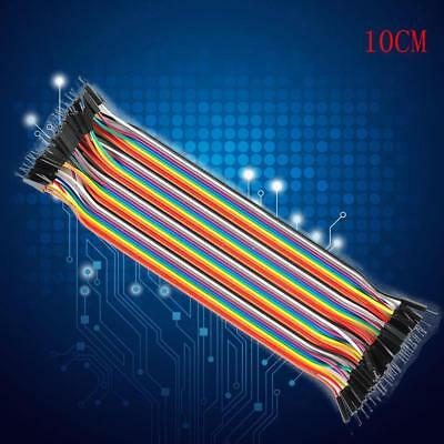 40Pcs Dupont 10CM Male To Male Jumper Wire Ribbon Cable for Breadboard Ar