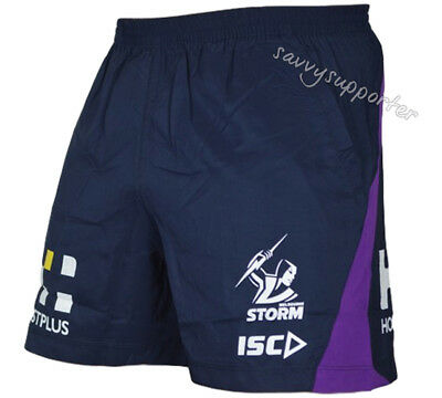 Melbourne Storm 2019 NRL Training Shorts Sizes Adults and Kids Sizes