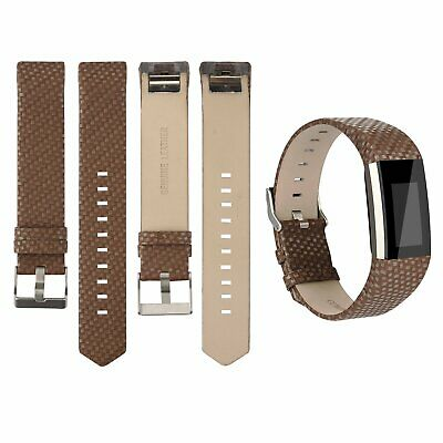 For Fitbit Charge 2 Genuine Leather Replacement Sport Strap Watch Band Wristband