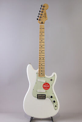 FENDER Duo-Sonic Arctic White E.Guitar Free Shipping with Soft Case