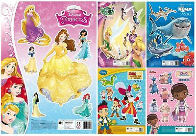 Disney Childrens Character Fun Stickers Sheets Party Pack Loot Bag Fillers Kids