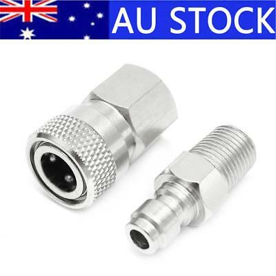 Paintball PCP 8mm Quick Release Disconnect Coupler 1/8NPT Fitting Male & Female