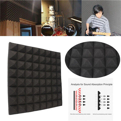 Studio Acoustic Foam Insulation Sound Proof Isolation Square Panel Tile KTV 19""