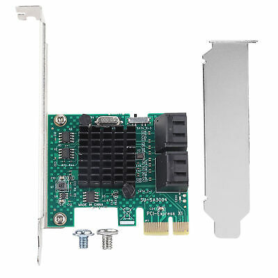 PCI Express to 6G SATA3.0 4-Port SATA III Expansion Controller Card Adapter GM