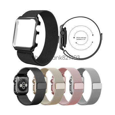 Correa de Banda Milanese Loop acero inoxidable para Apple Watch Band Series 4 3