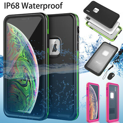 Waterproof Shockproof Dirt Proof Swimming Full Case Cover For iPhone XS Max XR X