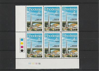 Rhodesia - 1978 - Trade Fair Bulawayo - Blocks Of 6 - Sets (2V) - Mnh