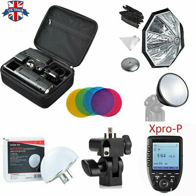 UK Godox 2.4 TTL HSS Two Heads AD200 Flash+Xpro-P For Pentax+Softbox Reflector