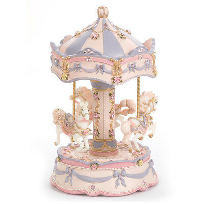 NEW Gibson Baby Mauve Carnival Carousel Large