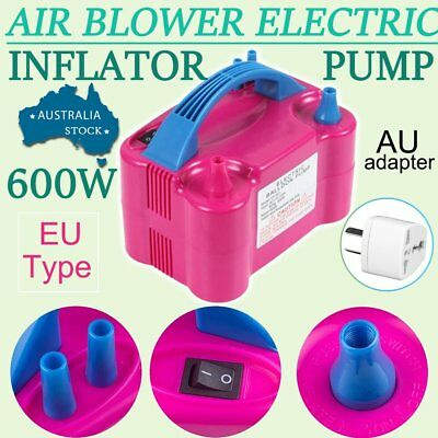 Portable 600W High Power Two Nozzle Air Blower Electric Balloon Inflator Pump IU