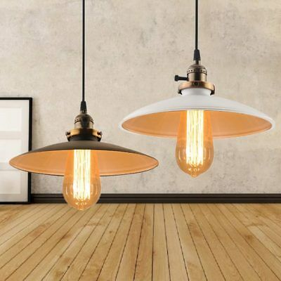 Retro Hanging Ceiling Light Vintage Industrial Pendant Retractable Lamp Home UK
