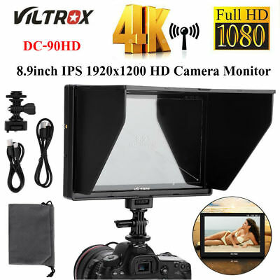 VILTROX DC-90HD 8.9inch IPS Screen Full HD Camera HDMI Monitor+Sunshade for DSLR