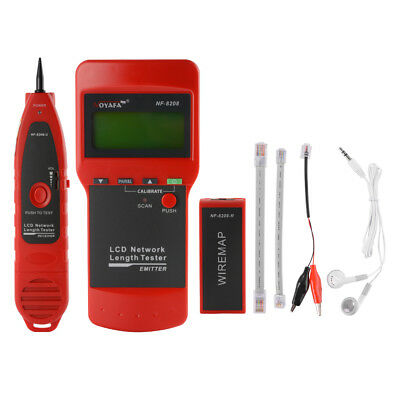 NF-8208 Network LAN Cable Tester LCD Fault Locator RJ45 for Cat5E Cat6E AC1530