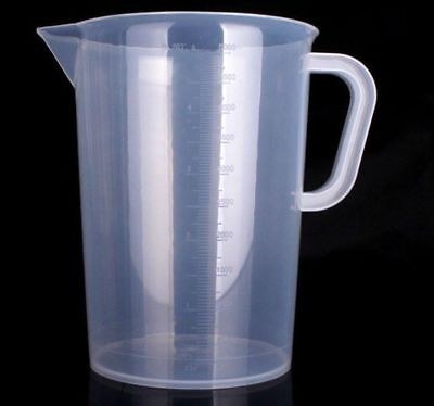 Hydroponics 5000ml 5L Litre Plastic Measuring Jug Liquid Nutrients Water