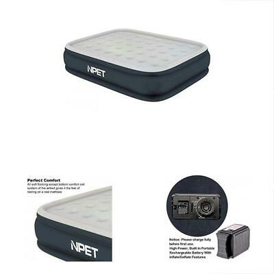 """Queen Air Mattress Built-in Pump With Portable Rechargeable Battery, AM001 20"""" &"""
