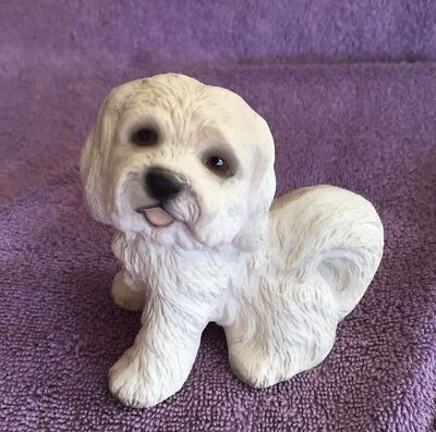 Vintage 1986 Global Art Harvey Knox Kingdom Lhasa Apso Puppy