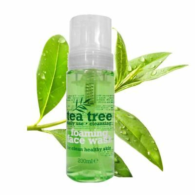 Tea Tree Foaming Face Wash 200ml Daily Use Cleansing Healthy Clean Clear Skin