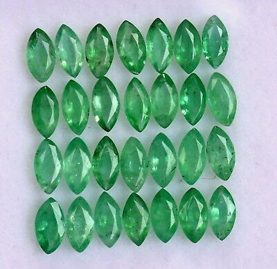 Natural Emerald Marquise Cut 5x2.50 mm Lot 15 Pcs 2.09 Cts Untreated Gemstones