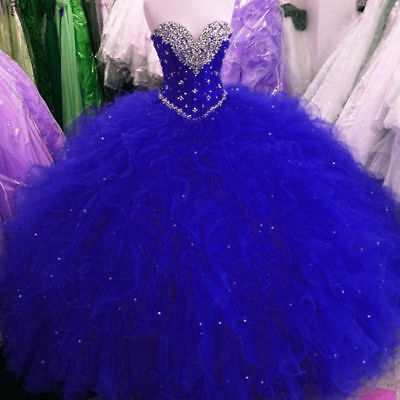 Luxury Sweetheart Quinceanera Dress Party Evening Wedding Prom Pageant Ball Gown
