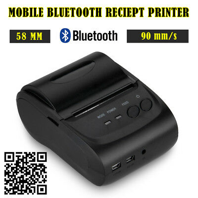 Portable Bluetooth Wireless 58mm 90mm/s Thermal Dot Receipt Printer ESC/POS/STAR