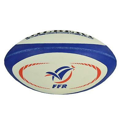 Gilbert Midi France Replica Rugby Ball - White, Blue and Red