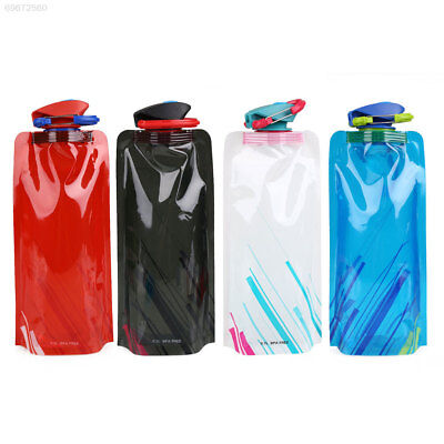 C2F6 03C0 700ml Foldable Water Bladder Drink Bag Bottle Camping Cycling Climbing