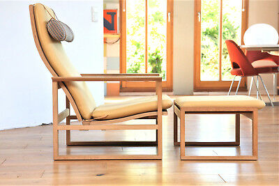 1x Lounge Chair Model 2254 & Ottoman  Børge Mogensen  Fredericia SESSEL