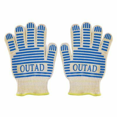 OUTAD Heat-resistant Gloves Heat Resistant Waterproof BBQ Set 5 Finger Gloves YA