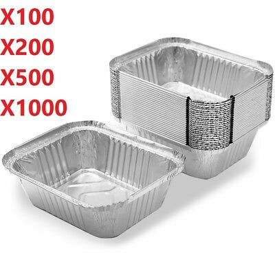 No2  Heavy Duty Aluminium Foil Food Containers with Heavy Duty Lids