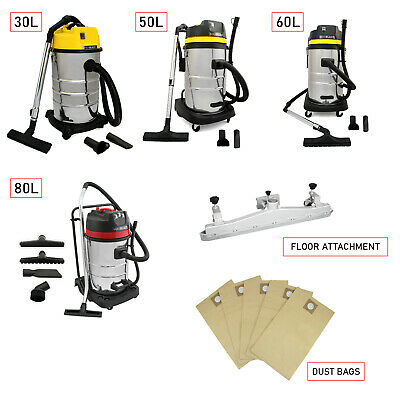 Industrial Wet & Dry Vacuum Cleaner Commercial Stainless Steel Equipment Tools