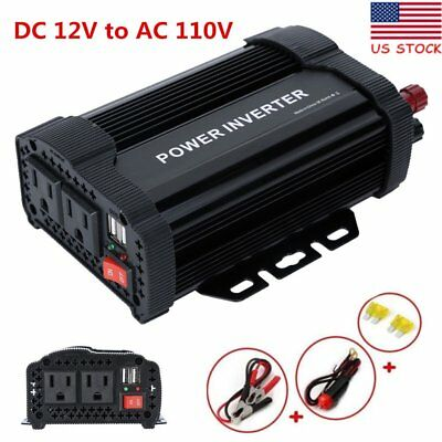 2000W Peak Car Power Inverter 12v to 110V Sine Wave Converter for Home Appliance