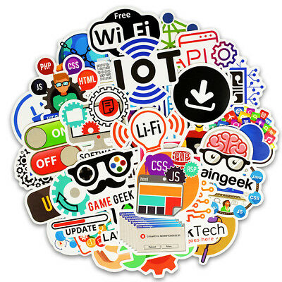 50 Programming Language Stickers Bomb Waterproof Sticker For DIY Laptop Luggage