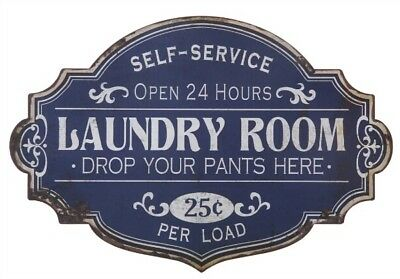 Vintage Style Wall Art Laundry Room Sign Cottage Shabby Distressed Antique NEW