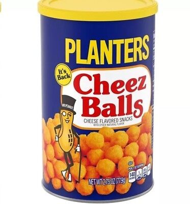 Planters Cheez Balls Cheese Doodle 2018 Release 2.75 oz In Hand Ready To Ship